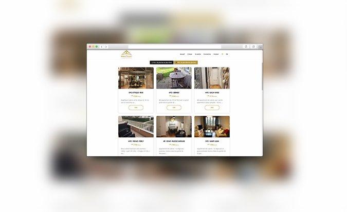Application web sur mesure - Listing de biens immobiliers